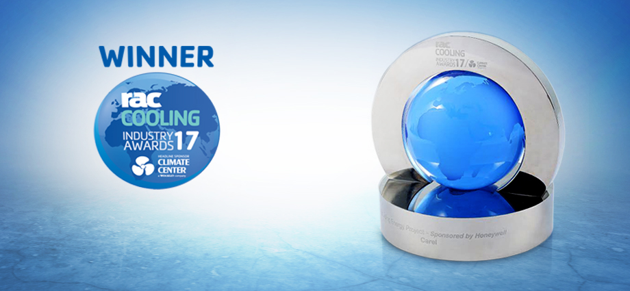 CAREL wins the prestigious RAC Cooling Industry Award