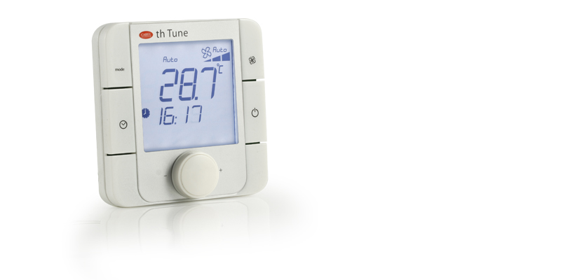 th-Tune, the Carel pCO sistema family room terminal that allows users to control temperature and humidity in residential environments